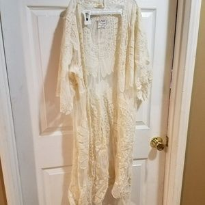 Sheer & Lace Open Cover Up